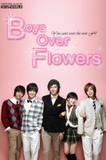 Boy before flower